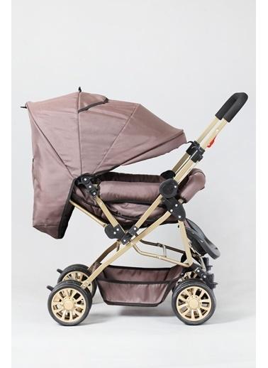 ESY LİNE Esy Line Çift Yönlü Bebek Arabası Gold-Kahve  Altın